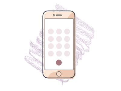 "Illustration Experiment 4 ""iPhone"" product illustration offset scribbles illustation iphone 7"
