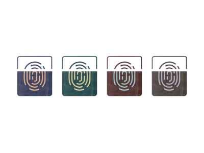 I.D. Verify icon illustration jenks seth glyph touch touch id finger print fingerprint