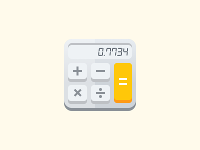Hello Calculator! product illustration icon illustration hello calculator