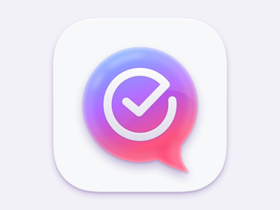 Todo-Chat App Icon glow chat bubble checkmark task manager sketch ios iconography chat icon