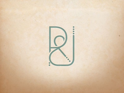 Ryan And Jamie Monogram  monogram logo r j seth jenks