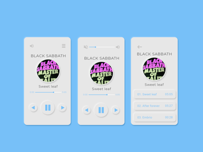 Music player app - #dailyui #009
