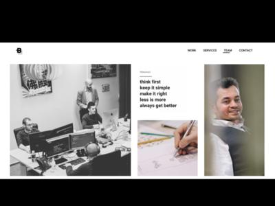 Web desing - Team Page