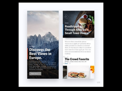 UI/UX - Discover Europe