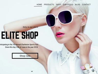 Slider elite shop web design