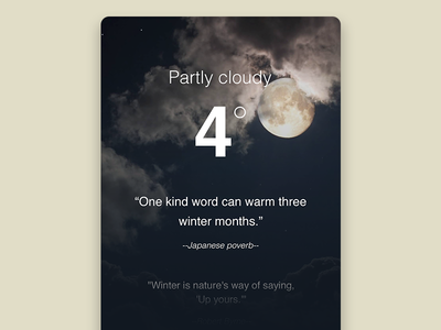 Weather Info cold winter graphics info weather experience design ux ui