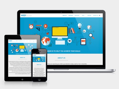 Wisy Education web design, logo & branding design