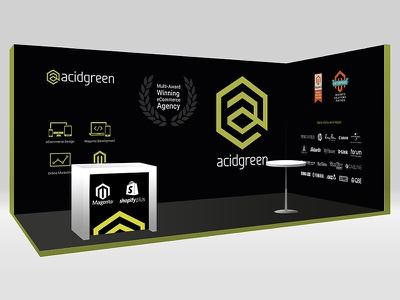 acidgreen expobooth big scale design exhibition design vector design 3d design booth design digital design