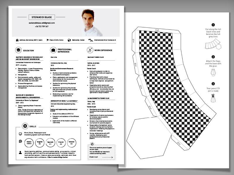 reusable resume design by valevale design