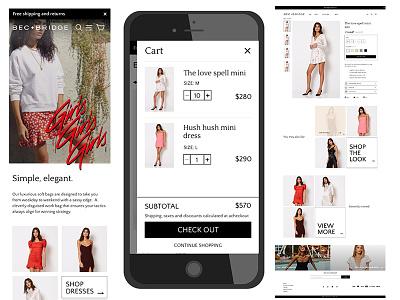 Bec Bridge Mockups responsive design shopify e-commerce design wireframes design graphic design creative director digital design ui design ux design
