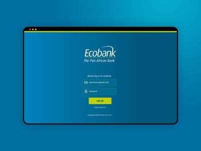 Ecobank Staff Portal login 2