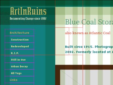 Possible redesign again web design golden ratio emigre fonts grids