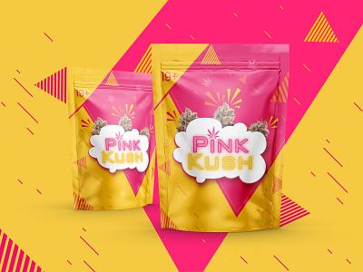 Pink Kush brand indica sativa pink kush weed blast smoke weed bag love designer bud bag weed life cannabisculture graphicdesigner branding thc marijuana weed cannabis packagedesign ganja love
