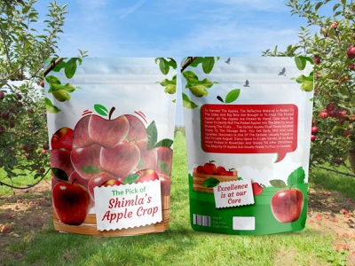 Apple Pouch designer graphicdesign bagdesign packagedesign organic healthy harvest appleseason healthyfood foodie nature delicious yummy appletrees autumn fruit orchard applestore shimla apples
