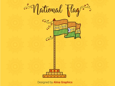 TIRANGA-National Flag-INDIA art indianart tricolor flag india tiranga logo design illustration branding graphicdesigner love