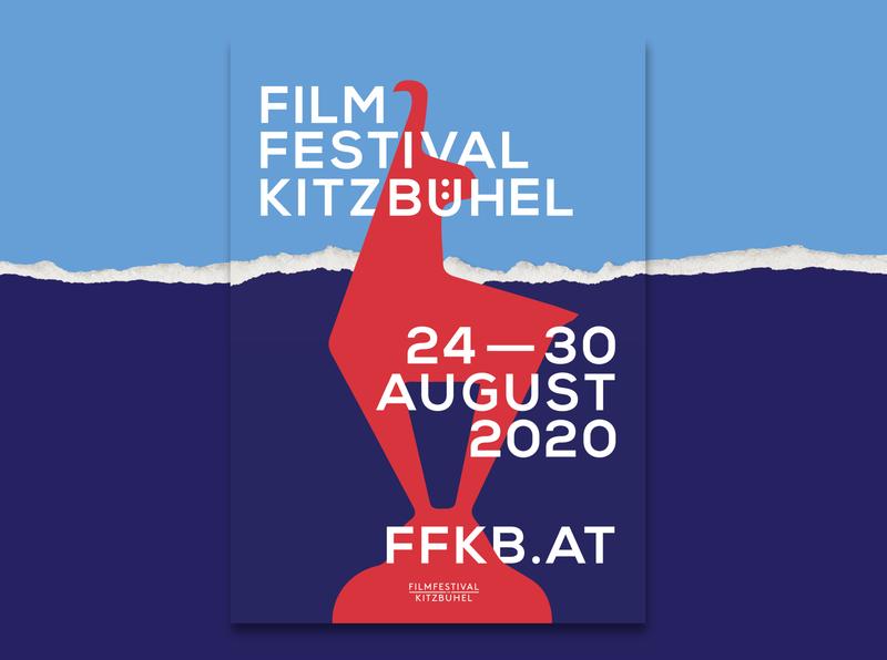 Film Festival Kitzbühel graphic design festival design film festival poster design poster creative typography design