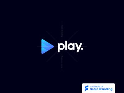 Play Gradient Logo by Alternate Design