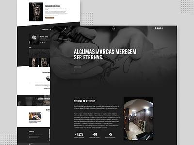 Estúdio de tatuagem - Website website ui web