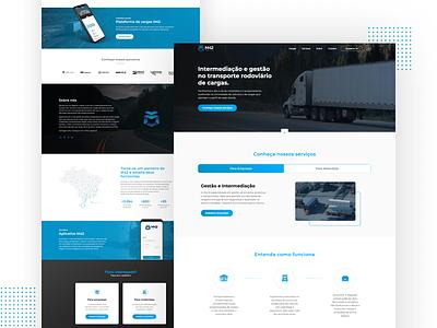 M42 Logística - Website OnePage web redesign ui website