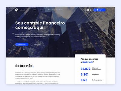 Finance Website - UI Project Study minimalist website ui web
