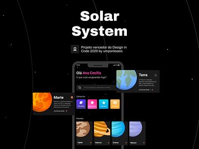 Solar System App ui  ux illustration solar system mobile app mobile app design mobile ui mobile uiux ui design ui