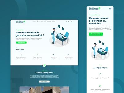 Doctor's Office - Website uiuxdesign uiux mobile ui mobile illustration minimalist website web ui