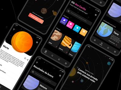 Solar System App uidesign application app design app uiux mobile ui mobile ui