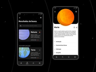 Solar System App #1 solar system appdesign app mobile ui ui mobile