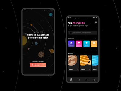 Solar System App #2 uiux app design solar system app ui mobile ui mobile