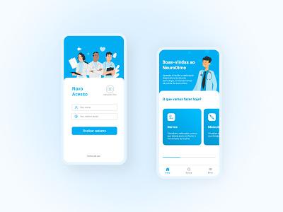 Doctor App - NeuroDimo medicine app doctor uidesign uiux app design app minimalist mobile ui mobile ui
