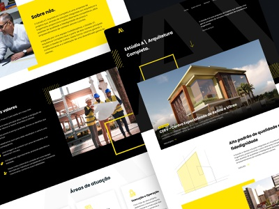 Redesign Website - Estúdio A Arquitetura webdesign web redesign uiux ui arquitetura arquitecture webiste