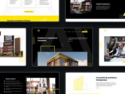 Architecture Website dark ui dark theme redesign uiux web ui website architecture website architecture