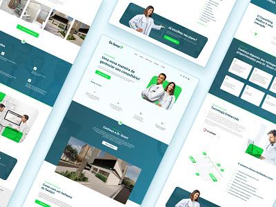 Medical Coworking - Website concept uidesign medical medicine medicine app uiux website web ui