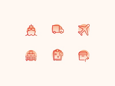 Logistic Icons uiux logistic logistc icon icon pack icon