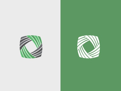 Green & Grey Spiral Logo Design