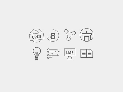 Business Education Icon Set