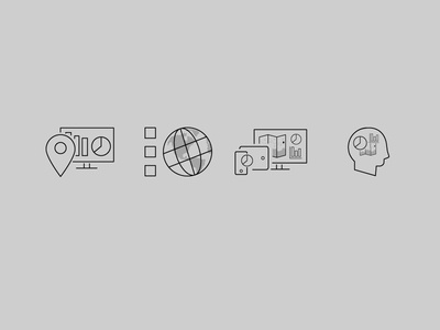 GIS Map Consulting Icon Set