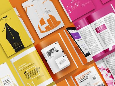 business magazine / layout, design, illustrations layout print design illustration vector graphic design