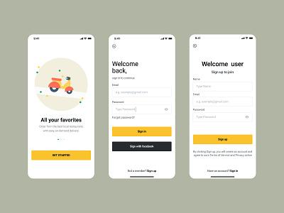 Food delivery apps mobile app design mobile figmadesign 2021 illustration web design product product design ux typography ui apps design 2021 apps vector branding colorful food app