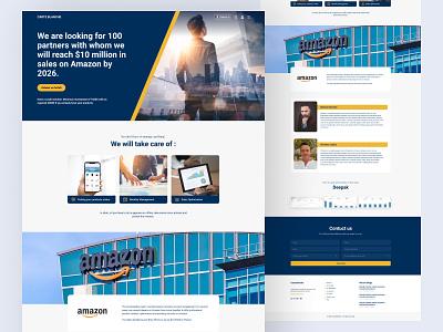 Business landing page. uiux clean ui design ux ux design inspiration landing page website web design branding investment investor partner company finance fintech footer simple logo