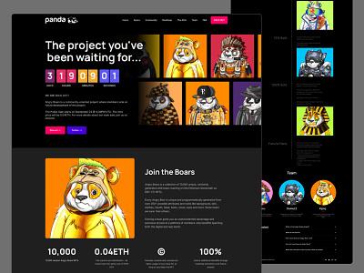 NFT: landing page graphic design branding home page ui design ux design nft platform digital product landing page web website web site web page landing product page nft crypto web design