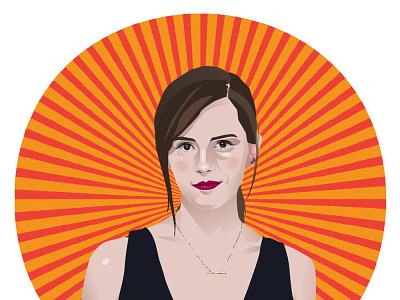 vector portrait illustrator emma watson vector portrait vector illustration portrait illustration portrait