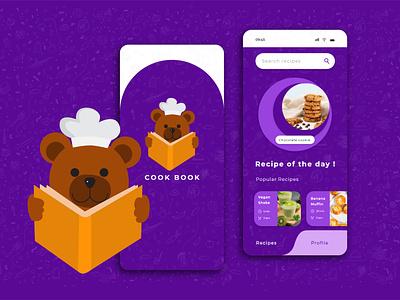 cookbook - recipe app ui design ui designer cooking app cooking app ui recipe app mobile ui ux ios app mobile app design illustration adobe illustrator adobe xd ux design ui design ui