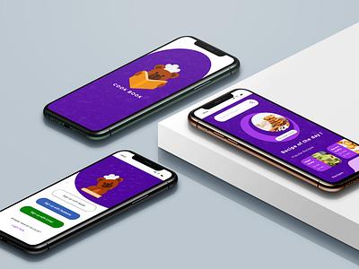 cookbook app - mobile ui design ios app design android app design ui designer ios ui android ui ui ux designer icon adobe illustrator typography cooking app adobe xd ux ui design