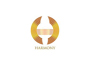 Harmony minimal illustration branding design logo