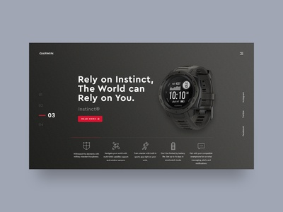 Garmin Watch Website Redesign
