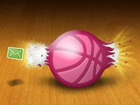 Dribbble invite blast shot
