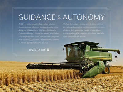 Interstitial Page ipad farm tractor layout type