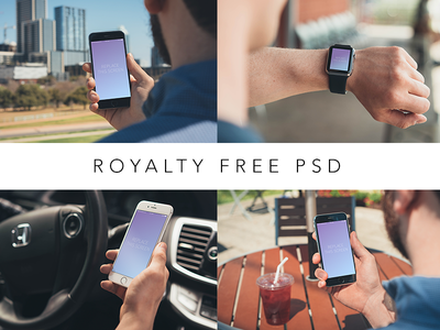 Free PSD Device Comps wrist table car city black white 6s watch apple iphone download free