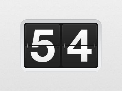 Flip Clock (Free) free psd flip counter clock numbers